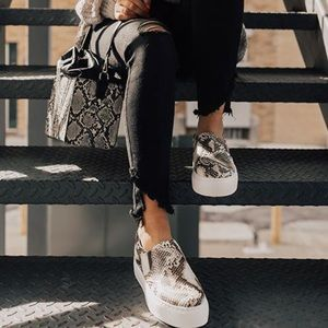 Shoes - 'The Hailey' Snake Skin Print Sneaker